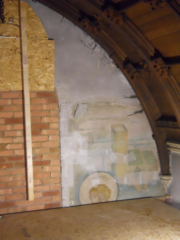Evelyn Gibbs wall paintings at St Martin's Church, Bilborough