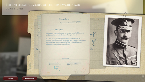 Military Intelligence Museum corps stories content