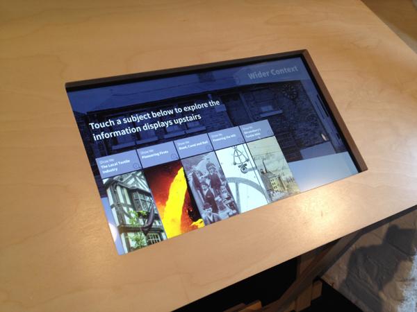 Shrwesbury Flax Mill Maltings touchscreen exhibit